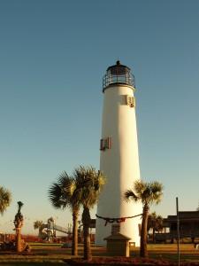 St. George Island lighthouse at Christmas